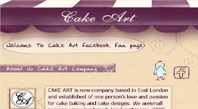 Cake Art Facebook template